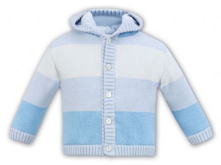 Blue Stripe Pram Coat